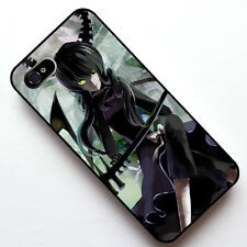 2# Black Rock Shooter Dead Master 2 in 1 Case Cover for Apple Iphone 4 4S 5 5S