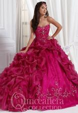 Promotional High End Strapless Charming Hot Pink Quinceanera Dresses Custom Made