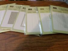 STAMPIN UP RETIRED EMBOSSING FOLDERS