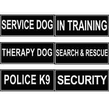 Extra Velcro Patch Dog Harness Label Tags SERVICE DOG Working ID Therapy Police