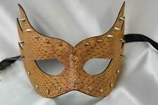 PU Leather mardi gras Spike Masquerade ball Costume Party Mysterious eye Mask
