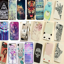 Hot Chic Cute Various Pattern Hard Back Skin Case Cover for Iphone 5 5S 4 4S