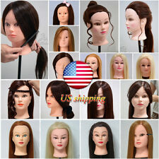 100%/90%/85%/50%/30% Real Human Hair Salon Hairdressing Training Head Mannequin