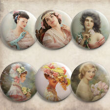 Retro Ladies Painting Vintage Pin Buttons Pins Pinbacks Pinback Button Badges