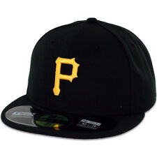 Pittsburgh PIRATES GAME Black Yellow New Era 59FIFTY Fitted Cap MLB On Field Hat