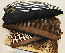 Large Luxury Fur Dog Bed - For Pet Cat Washable Zipped Mattress Pillow Cushion