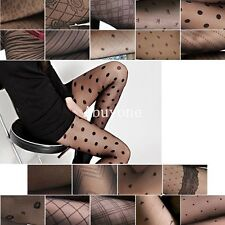 Ladies Womens Sexy Black Fishnet Pattern Stretch Stockings Pantyhose Tights 09