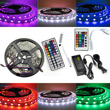 5050 10M RGB 300 LEDs SMD Non-Waterproof Light Strip Mini24/44 Key IR 12V Power