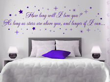 How Long Will I Love You - Ellie Goulding Lyrics Wall Stickers