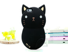 Cute Protective 3D Mio Cat Kitty Soft Silicone Case Cover for iPhone 5s 6 6 Plus