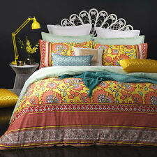 Logan and Mason ALIYA CORAL Duvet Doona Quilt Cover Set Single Double Queen King
