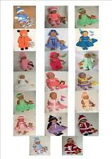 Doll Knitting Patterns Numbers Carol Ann Designs*1 to *21 (Baby Born Size)