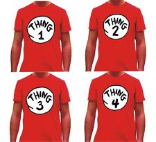 DR SEUSS CAT IN THE HAT THING 1 2 3 AND 4 TSHIRT FREE UK QUICK RECORDED DELIVERY