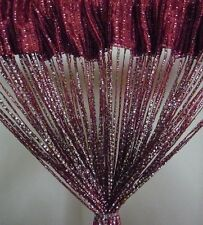 SILVER LINING GLITTER STRING CURTAIN WHITE MAROON VIOLET GOLD / LATTE HOT PINK