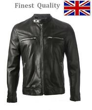 Mens Slim Fit Brando Biker Style Casual Faux Leather Jacket Coat