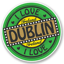2 x Dublin Ireland Vinyl Sticker iPad Laptop Car Travel Luggage Tag Irish #5014