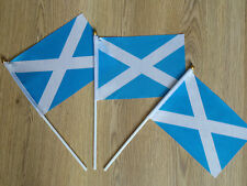 Scottish Hand Waving Flags National Flag of Scotland Light Blue Saltire