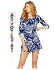 Lilly Pulitzer Harbour Tunic Dress Print: Bright Navy Oh Cabana Boy