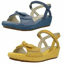 Clarks Girls Summer Wedge Sandals Harpy Rita