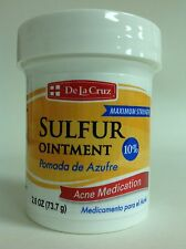 SULFUR OINTMENT DE LA CRUZ - POMADA DE AZUFRE 2.6 OZ ACNE MEDICATION
