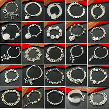 special offer wholesale solid 925sterling silver jewelry chain bracelets bangle