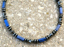 Men's Powerful Magnetic Hematite LAPIS NECKLACE SUPER STRONG Free Shipping