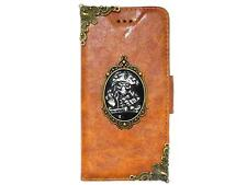 Vintage Pirate Skull Wallet Case Cover For Apple iPhone 4 4S 5 5G 5S BA1 N Brown