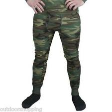 Woodland Camouflage Thermal Underwear Bottom - USA Made, Polyester, Cotton