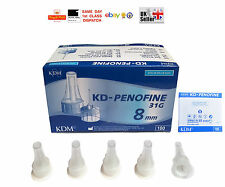 INSULIN PEN NEEDLES KDM KD-PENOFINE STERILE 31G 0.25x8 CHOICE OF QTY FAST CHEAP