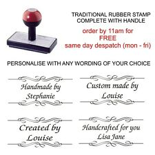 PERSONALISED CUSTOM HANDMADE BY RUBBER STAMP 11637 CARD MAKING CRAFTS HOBBY ETC