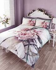 BRAND NEW UNIQUE VINTAGE ROSE PHOTOGRAPHIC PRINT DUVET QUILT COVER BEDDING SET
