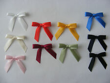 10mm Double Sided satin Ribbon Taffeta Edged Bows x 10