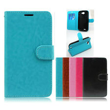 For BLU - Samsung - HTC. PERFECT FIT Luxury Leather Flip Wallet Case Cover