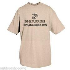 SAND TAN MARINES ESTABLISHED 1775 IMPRINTED 1 SIDED T-SHIRT - Short Sleeve Tee