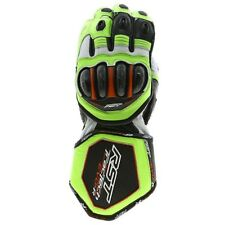 RST Tractech Evo Race Leather Motorcycle Gloves - Flo Green