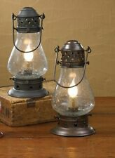 Primitive Country Tall Onion Lamp Electric Flameless Lantern