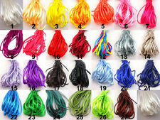 2mm Silk SATIN Rattail CHINESE KNOT CORD Thread String Handcraft Strand Bracelet