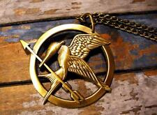Hunger Games Style Necklace Mockingjay Pin Badge SIlver Bronze Gift Katnis