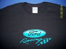 Ford Racing Screen Printed Black T-Shirt 6 oz.100% Cotton Heavy Weight
