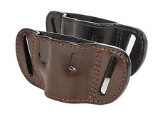 Leather Molded Belt Slide Holster Custom Built to Your Gun - Handcrafted in USA