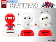 "Hot Disney Big Hero 6 Baymax Figures Solar Powered Dancing Movable Toy 3.5"" Inch"