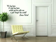 If I Lay Here Snow Patrol Song Lyric Wall Quote Song Lyrics Quote Decal QU63