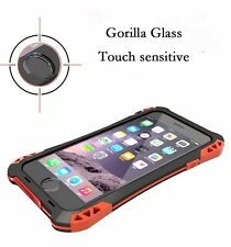 For iPhone 8 7 6S & Plus Extreme Military Duty Aluminum Cover Carbon Fiber Case