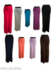 NEW LONG LADIES WOMENS JERSEY MAXI SKIRT GYPSY BODYCON SUMMER DRESS