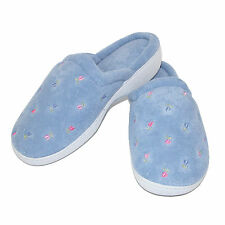 New totes ISOTONER Womens Terry Scalloped Embroidered Clog Slippers