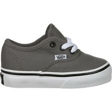 Vans Authentic Pewter White Canvas Infant Toddler Baby Boy Girl Shoes Size 4-10