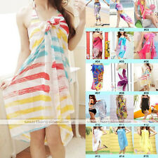 1pc Sexy Chiffon Wrap Dress Sarong Beach Swimwear Cover Up Bikini Scarf Cover-Up