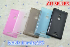 Nokia Lumia 925 Slim Soft Silicone Matte Rubber Gel Back Cover Case