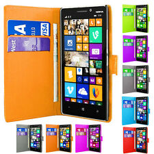 Magnetic Wallet Flip Book ID Holder Leather Cover For Various Nokia Lumia Models