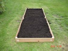 NEW 2X10 CEDAR RAISED PLANTER ELEVATED FLOWER BED GARDEN NEARLY 6 INCHES TALL